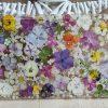 Blumenmeer im großen Tablett